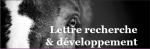 LETTRE RECHERCHE & DEVELOPPEMENT - Conseil Scientifique