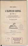 Traité complet de l'élève du cheval en Bretagne