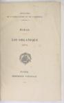 Haras. Loi organique 1874