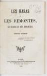 Les Haras et les remontes, la guerre et les brochures