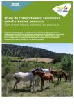 Etude du comportement alimentaire des chevaux sur parcours